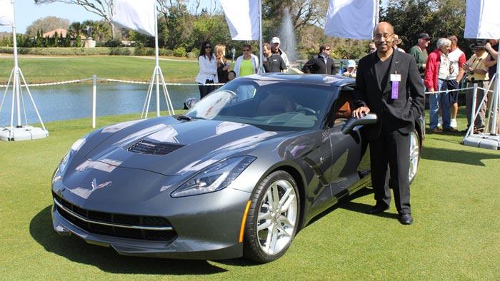 GM's Global Design Chief Ed Welburn with C7 Corvette Stingray