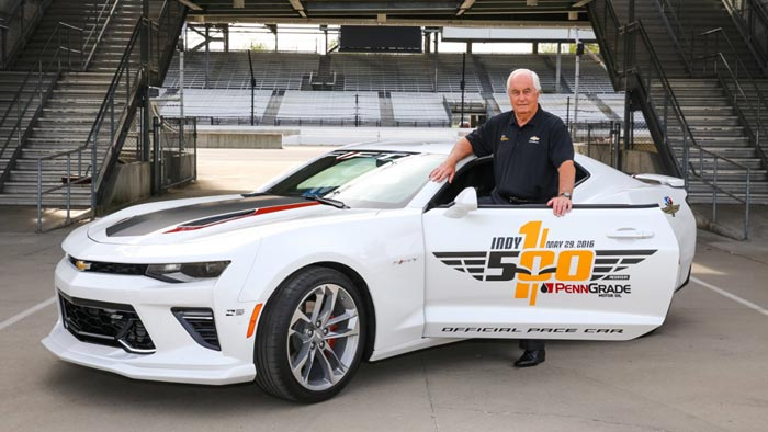 2017 Camaro SS 50th Anniversary Edition to Pace the 100th Indianapolis 500