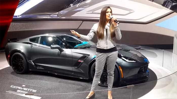 [VIDEO] Corvette Grand Sport Presentation by Chevy Girl at Geneva Motor Show