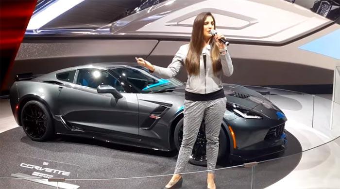 [VIDEO] Corvette Grand Sport Presentation by Chevy Girl at Geneva Motor Show