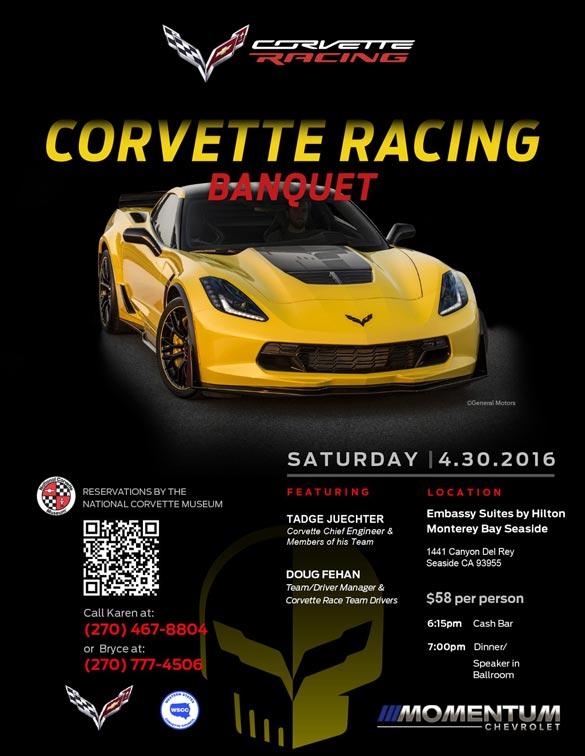 Tadge Juechter and 2017 Grand Sport to Headline Monterey's Corvette Racing Banquet