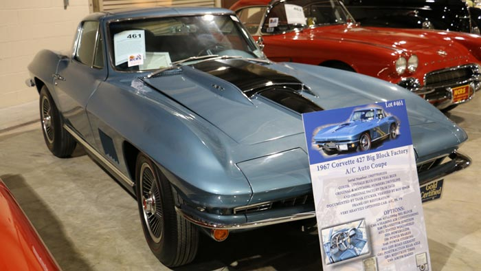 1967 Corvette Coupe - Lynndale Blue/Teal - 427/390hp - $139,700