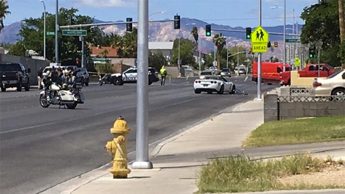 [ACCIDENT] Corvette Driver Narrowly Avoids Cyclist Struck by Pickup Truck