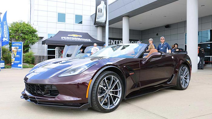 First Look 2017 Corvette Grand Sport Convertible In Black Rose Metallic