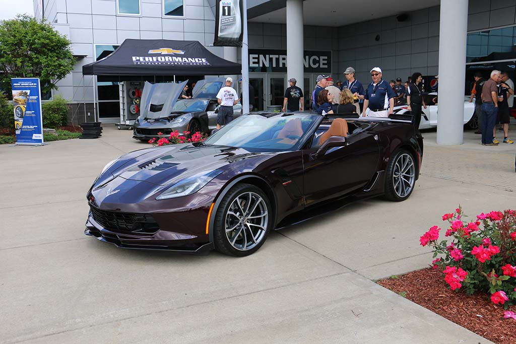 2017 Corvette Grand Sport Convertible In Black Rose Metallic