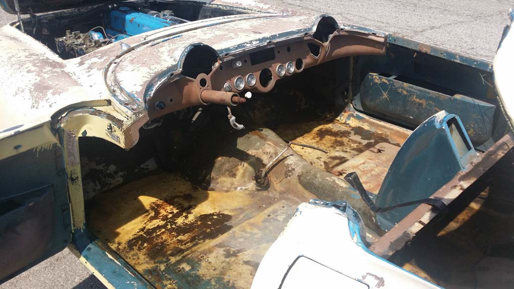 Corvettes On EBay Stripped 1954 Corvette Barn Find May Be One Of 300 Pennant Blue