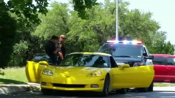 Package Thief Driving a Yellow Corvette Arrested in San Antonio