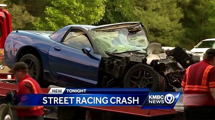 [VIDEO] Corvette Driver Injured in Fiery Street Race Crash