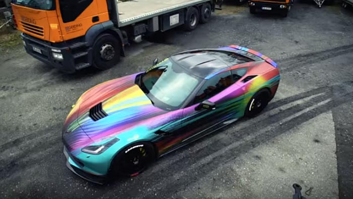[VIDEO] Release Your Inner Unicorn in this Rainbow Corvette Stingray by BBM Motorsport