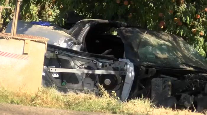 [VIDEO] Man Driving Stolen Corvette Charged In Fatal Crash with SUV