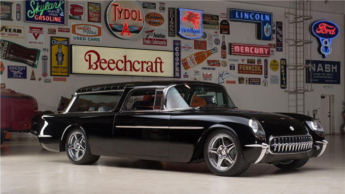 Custom LT5 Powered 1955 Nomad Wagon is the Coolest Car at Barrett-Jackson's Northeast Auction