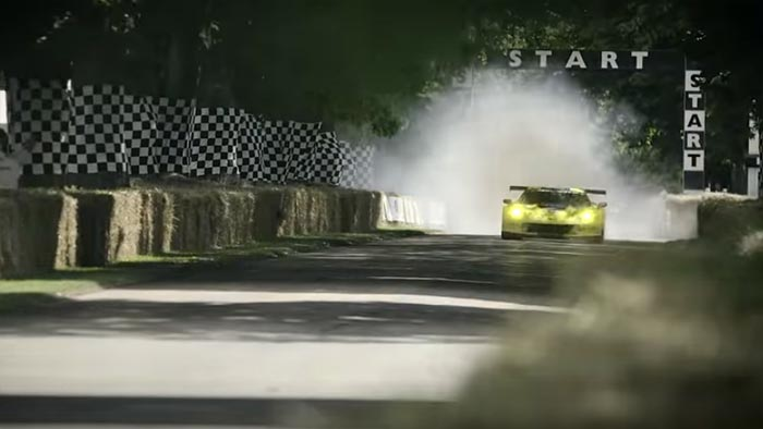 [VIDEO] Oliver Gavin's Massive C7.R Burnout at the Goodwood Festival of Speed
