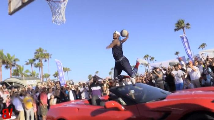 [VIDEO] Chris Staples Jumps a Corvette Stingray and Slam Dunks a Basketball