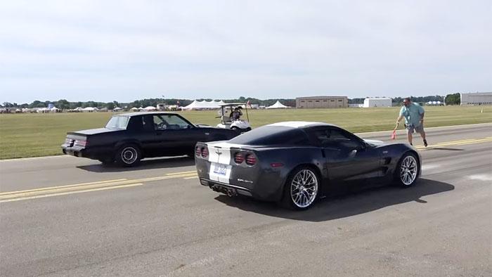 [VIDEO] Corvette ZR1 Vs Buick Grand National at the Battle Creek Speedfest Half Mile