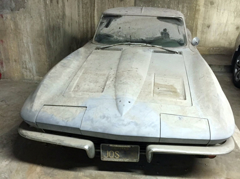 BARN FIND 1963 Corvette SWC Wastes Away In A Los Angeles Parking Garage
