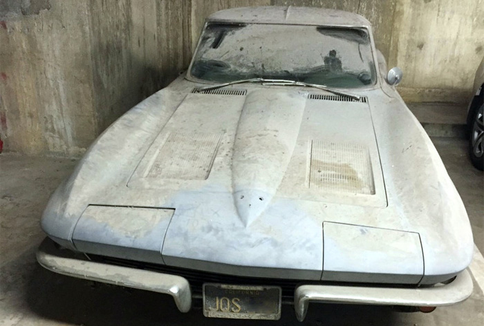 [BARN FIND] 1963 Corvette SWC Wastes Away in a Los Angeles Parking Garage