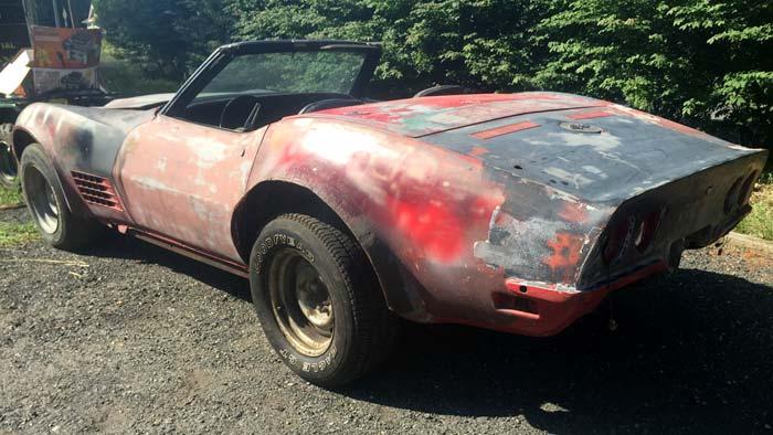 Corvettes on eBay: Garage Find 1971 Corvette LT1 Convertible