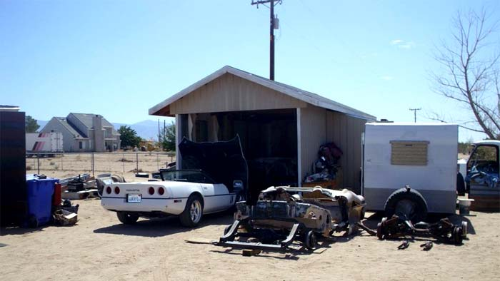 Police Shut Down Corvette Chop Shop in California