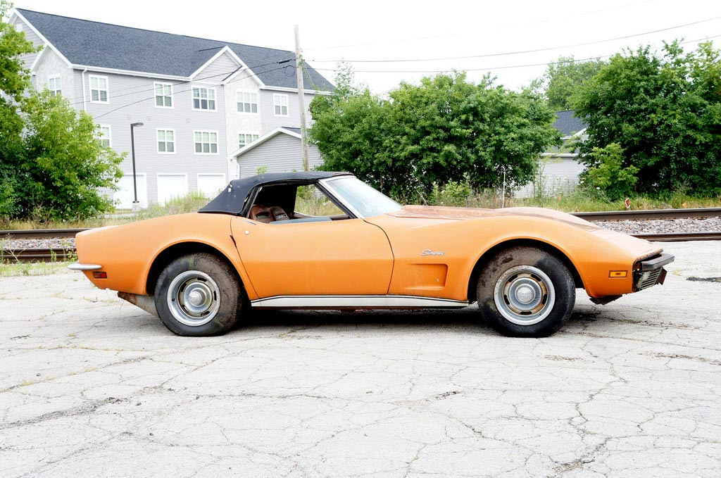 Corvettes On EBay Barn Find 1973 Corvette With 31570 Original Miles