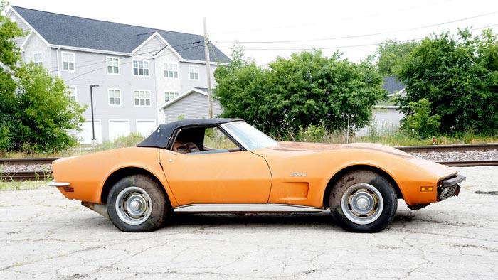Corvettes on eBay: Barn-Find 1973 Corvette with 31,570 Original Miles