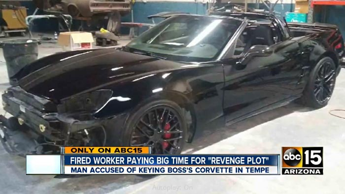 Arizona Police Arrest Man For Vandalism After Scratching Ex-Boss's Corvette
