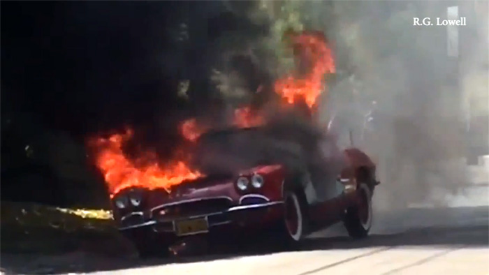 [VIDEO] Classic Corvette Goes Up in Flames in L.A.