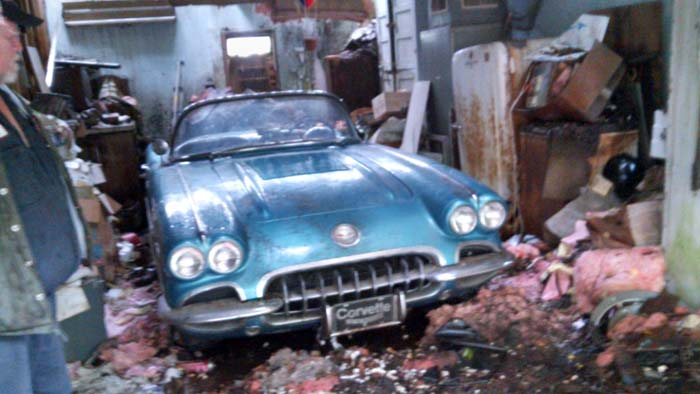 Corvettes on eBay: 1958 Corvette Barn Find May have Originally Been a Fuelie