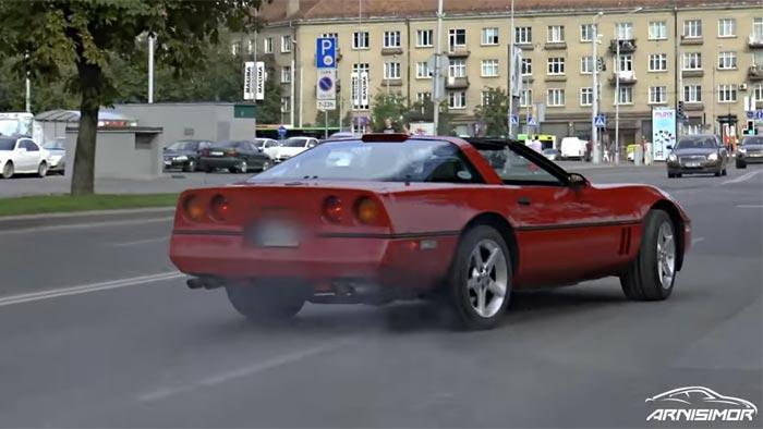 [ACCIDENT] Lithuanian C4 Corvette Driver Crashes Into Bus Stop While Leaving Car Meet