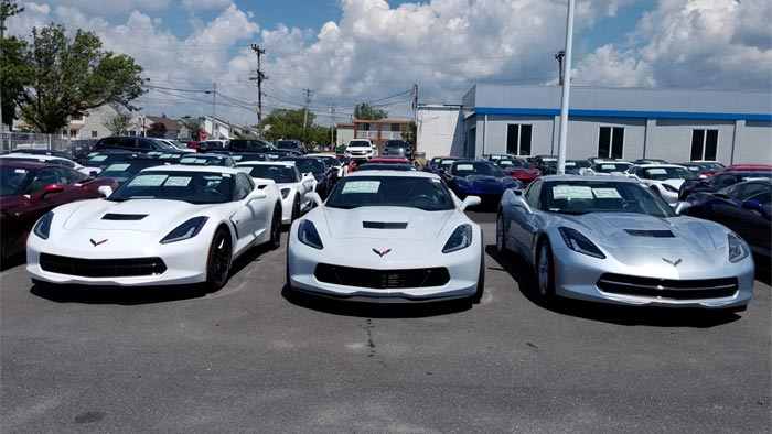 [PICS] New 2018 Corvette's Ceramic Matrix Gray Compared to Arctic White, Blade Silver and Sterling Blue