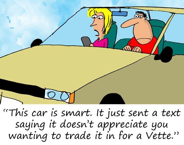 Saturday Morning Corvette Comic: When Smart Cars Are Too Smart