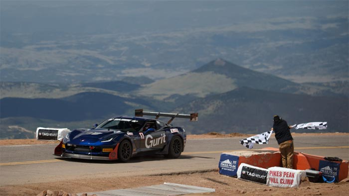 Salvage Corvette Z06 is the Fastest Corvette Ever at Pikes Peak