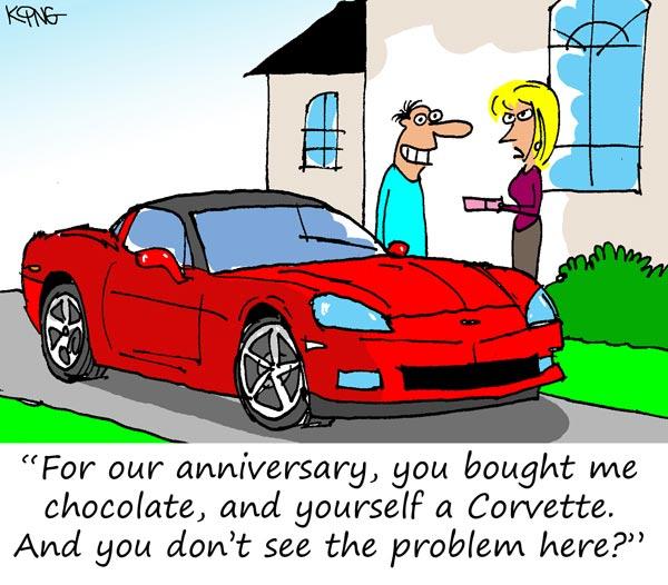 Sunday Morning Corvette Comic: Happy Anniversary!