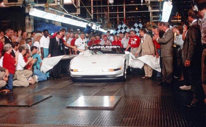 25 Years Ago: Chevrolet Builds the 1 Millionth Corvette