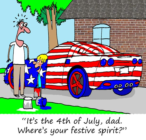 Saturday Morning Corvette Comic: Where's Your Festive Spirit?