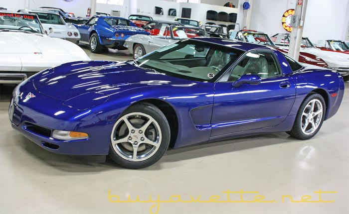 The Last C5 Corvette with 29 Original Miles and an MSO is for sale for $1 Million