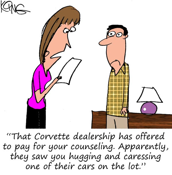 Saturday Morning Corvette Comic: Your Counseling has Been Approved