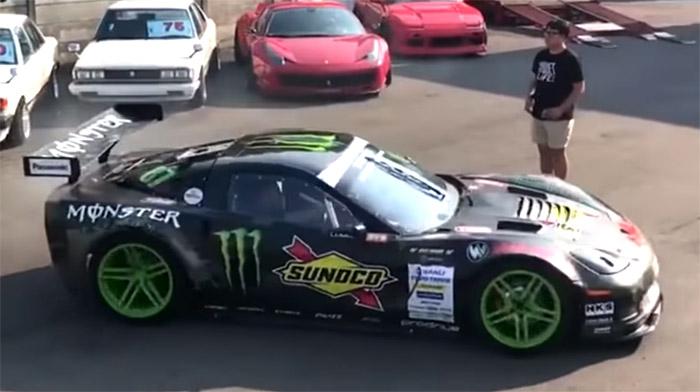 [VIDEO] Drifter Donuts RHD Corvette Z06 Next to a Ferrari