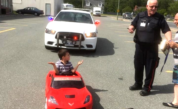 Police Ticket Six-Year-Old Corvette Driver for Doing Donuts border=