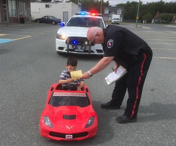 Police Ticket Six-Year-Old Corvette Driver for Doing Donuts