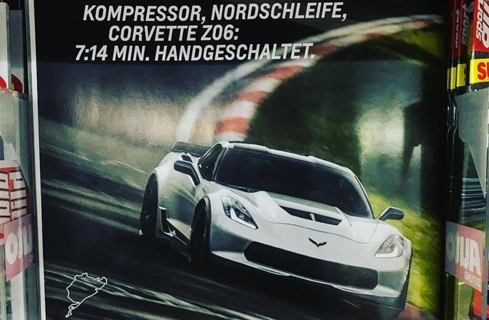 Chevrolet Promotes Sport Auto's 7:14 Nurburgring Time with a Corvette Z06 Magazine Ad