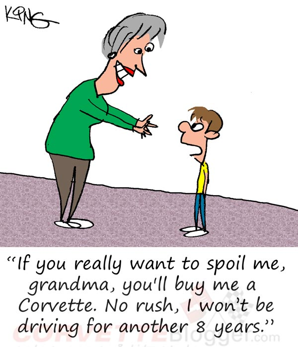 Saturday Morning Corvette Comic: Grandmas are the Best!