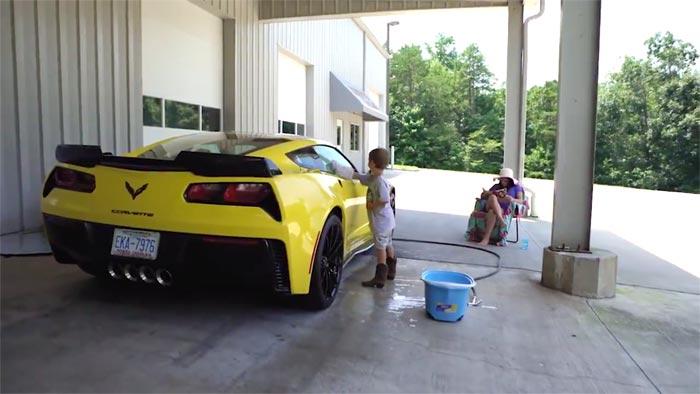 [VIDEO] Washing Dale Jr's Corvette Grand Sport
