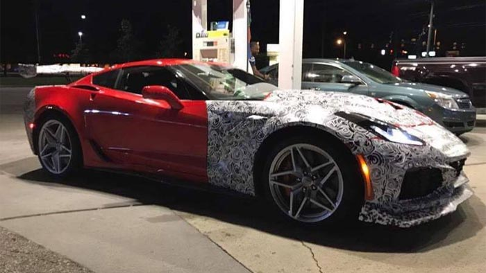 [PICS] 2018 Corvette ZR1 Refueling Offers Close Up Look at Unique Aero Package