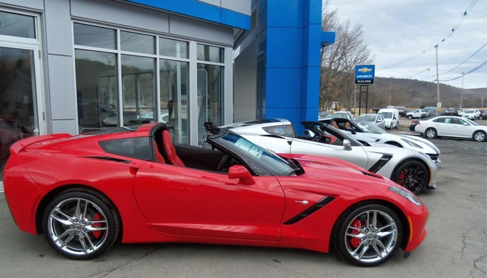 Save 10% Off MSRP of 2017 Corvettes at Elkland Chevrolet