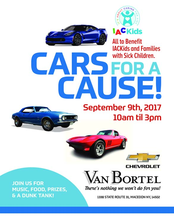 Join Van Bortel Chevrolet for the Cars for a Cause Show this Saturday