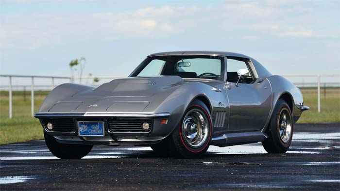 Cortez Silver 1969 Corvette L88 Coupe is Mecum's Main Attraction at Dallas