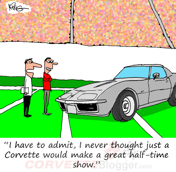 Saturday Morning Corvette Comic: The Ultimate Halftime Show