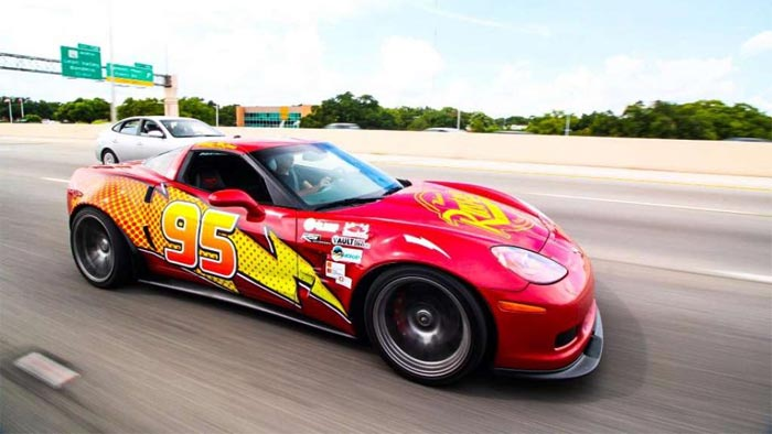 KACHOW: Texas Man Creates Lightning McQueen Tribute with C6 Corvette
