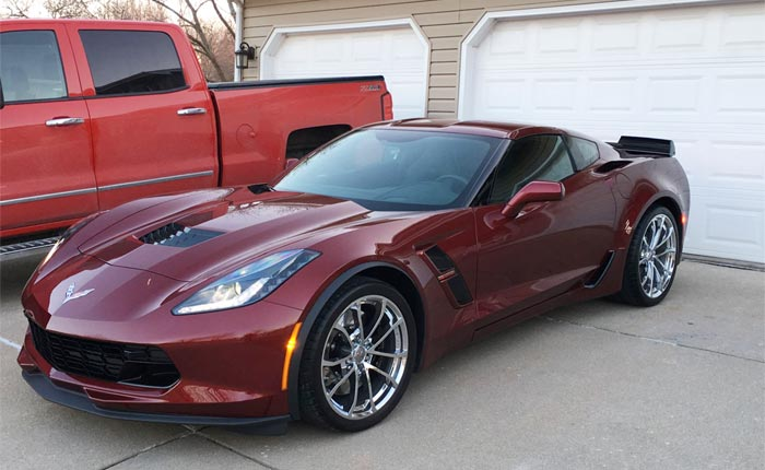 This Corvette Grand Sport Was Totaled After Debris Strike Causes Tiny Crack on the Frame