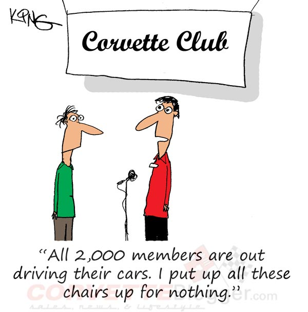 Saturday Morning Corvette Comic: The Achilles Heal of Corvette Club Meets
